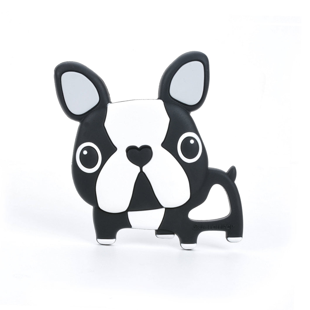 Loulou Lollipop Teether - Black Boston Terrier - Bloom Kids Collection - Loulou Lollipop