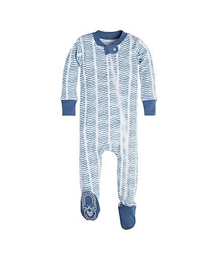 Burt's Bees Watercolor Chevron Sleeper- Blue Star - Bloom Kids Collection - Burt's Bee