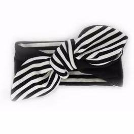 Moon + Beck Chloe Knot Head Wrap - Black - Bloom Kids Collection - Moon + Beck