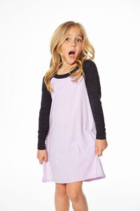 Chaser Raglan Mini Dress - Posy & Black - Bloom Kids Collection - Chaser