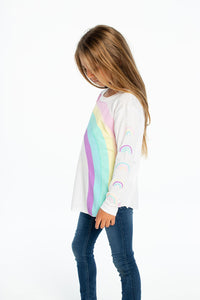 Chaser LS Rainbows Tee - Bloom Kids Collection - Chaser