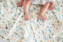 Loulou Lollipop Luxe Muslin Swaddle - Cactus Floral - Bloom Kids Collection - Loulou Lollipop