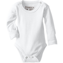 L'ovedbaby Organic Gloved-Sleeve Bodysuit - White - Bloom Kids Collection - L'ovedbaby