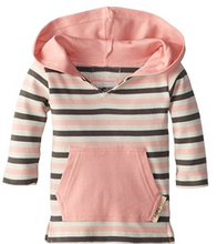 L'ovedbaby Organic Hoodie - Coral Stripe - Bloom Kids Collection - L'ovedbaby