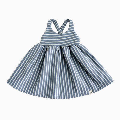 Lulu + Roo Cross Back Dress - Caroline Blue Stripe