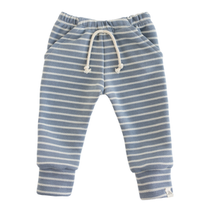 Lulu + Roo Skinny Joggers - Carolina Blue Stripe - Bloom Kids Collection - Lulu + Roo