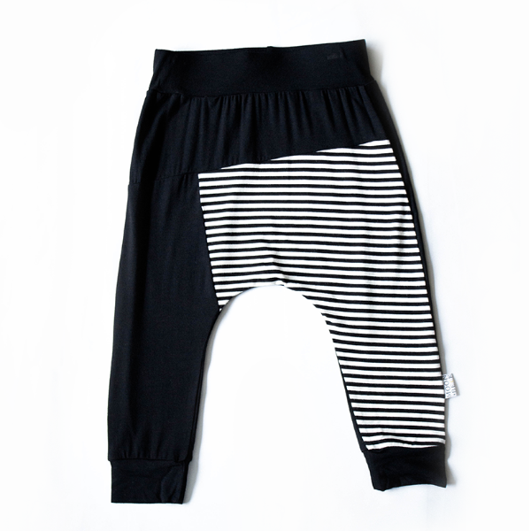 Moon + Beck Color Block Jogger - Black - Bloom Kids Collection - Moon + Beck