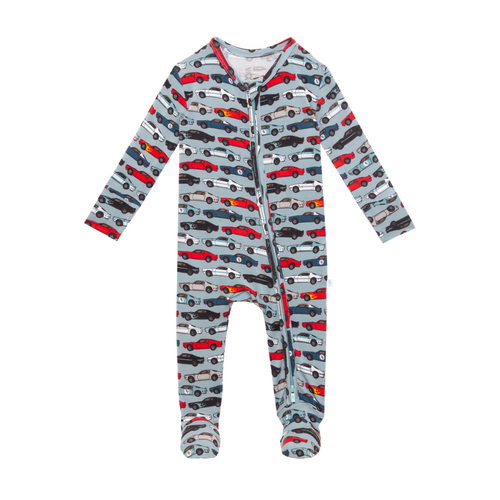 Posh Peanut Footie Zippered One Piece - Miles