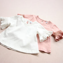 Bell Crochet Sleeve Top - White - Bloom Kids Collection - Bloom Kids Collection