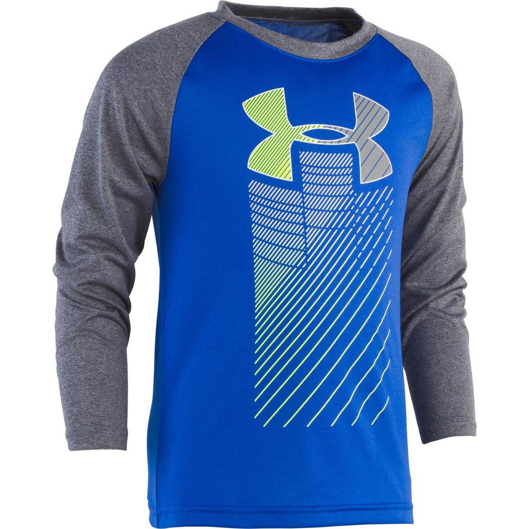 Under Armour Rising Big Logo Raglan - Royal - Bloom Kids Collection - Under Armour