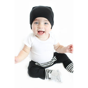Moon + Beck Dean Beanie - Black - Bloom Kids Collection - Moon + Beck