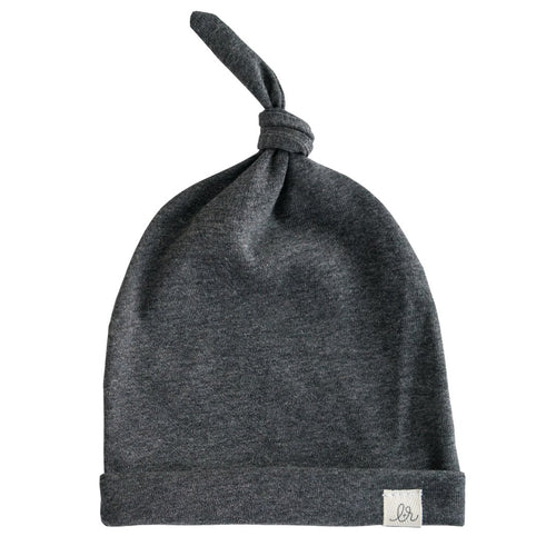 Lulu + Roo Knotted Hat - Dark Gray - Bloom Kids Collection - Lulu + Roo