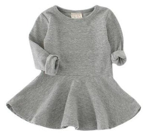 Cotton Tutu Dress - Grey - Bloom Kids Collection - Bloom Kids Collection