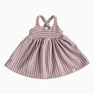 Lulu + Roo Cross Back Dress - Dusk Stripe