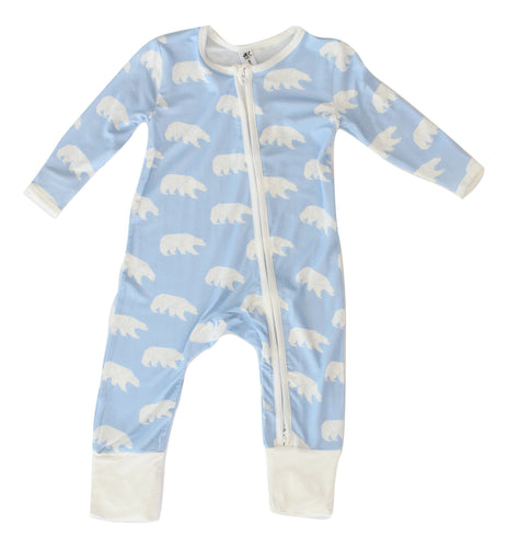 Earth Baby Outfitters Bamboo Coverall - Polar Bear - Bloom Kids Collection - Earth Baby Outfitters