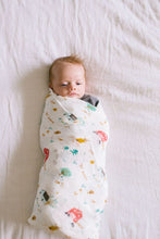 Loulou Lollipop Muslin Swaddle - Farm Animals