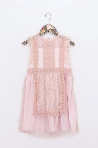 Maeli Rose Lace Apron Dress