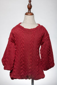 ML Kids Bubble Sweater - Burgundy - Bloom Kids Collection - ML Kids