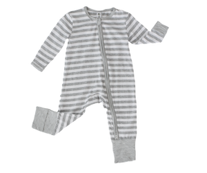 164bd8523adc1 Earth Baby Outfitters Two Way Zippy Coverall - Gray Stripe - Bloom Kids  Collection - Earth
