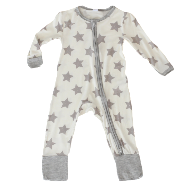 Earth Baby Outfitters Bamboo Coverall - Grey Star - Bloom Kids Collection - Earth Baby Outfitters