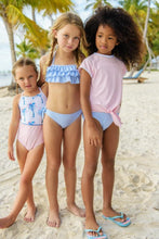 Snapper Rock Blue and White Stripe Bandeau Bikini - Bloom Kids Collection - Snapper Rock