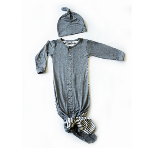 Moon + Beck Welcome Baby Gown and Hat Set - Bloom Kids Collection - Moon + Beck