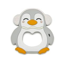Loulou Lollipop Teether - Grey Penguin with Holder