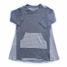 Moon + Beck Piper Dress - Gray - Bloom Kids Collection - Moon + Beck