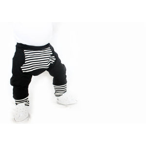 Moon + Beck The Harem Pant - Black - Bloom Kids Collection - Moon + Beck