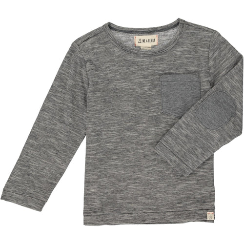 Me & Henry Micro Stripe Pocket Tee - Charcoal