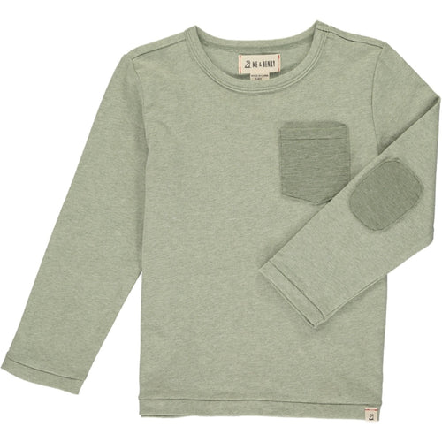 Me & Henry Long Sleeve Pocket Tee - Sage