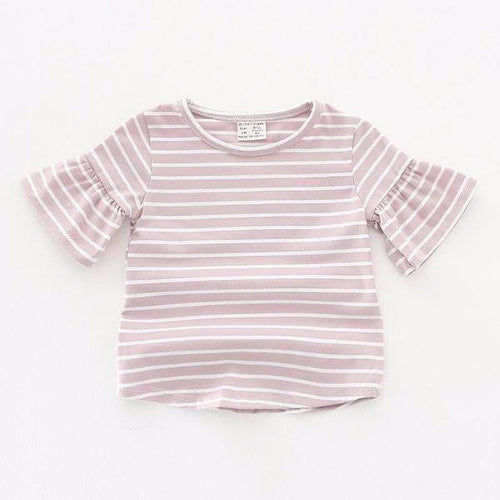 Ruffled Bell Sleeve Top - Dusty Pink - Bloom Kids Collection - Bloom Kids Collection