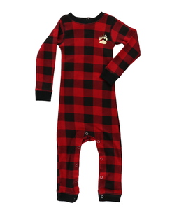 Lazy One Bear Cheek Plaid Infant Flapjack - Bloom Kids Collection - Lazy One