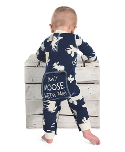 Lazy One Classic Moose Infant Flapjack - Blue - Bloom Kids Collection - Lazy One