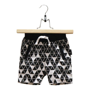 Lucky No.7 White Geo Short - Bloom Kids Collection - Luck No.7