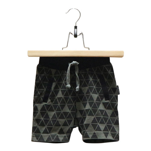 Lucky No.7 Army Green Geo Short - Bloom Kids Collection - Luck No.7