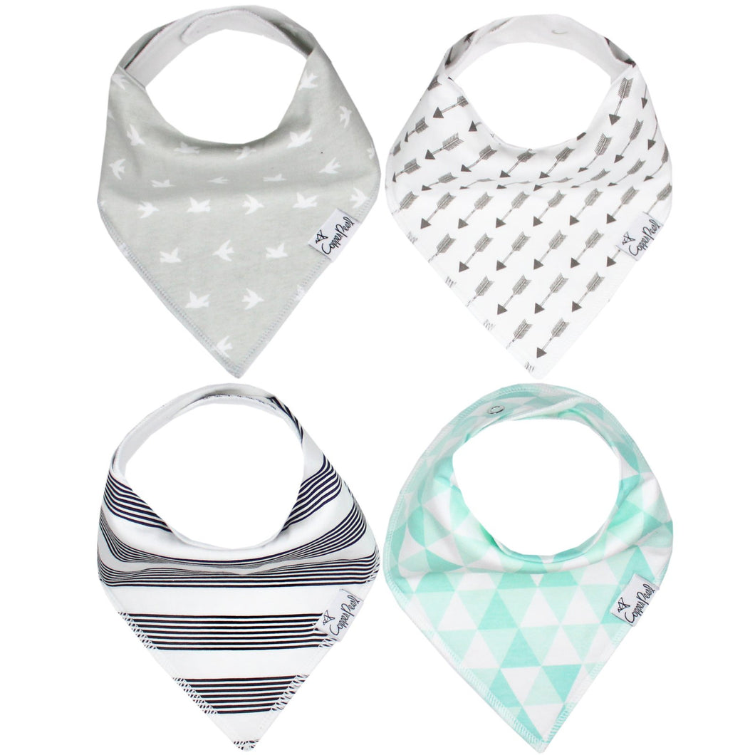 Copper Pearl Baby Bandana Bibs - Tribe - Bloom Kids Collection - Copper Pearl