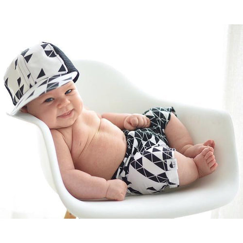 George Hats White Triangle Trucker Hat - Bloom Kids Collection - George Hats