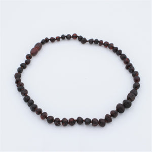 Lemon Vines Unpolished Cherry Baroque Baltic Amber Necklace - Bloom Kids Collection - Lemon Vines