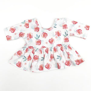 Made by Molly Peplum Top - Roses