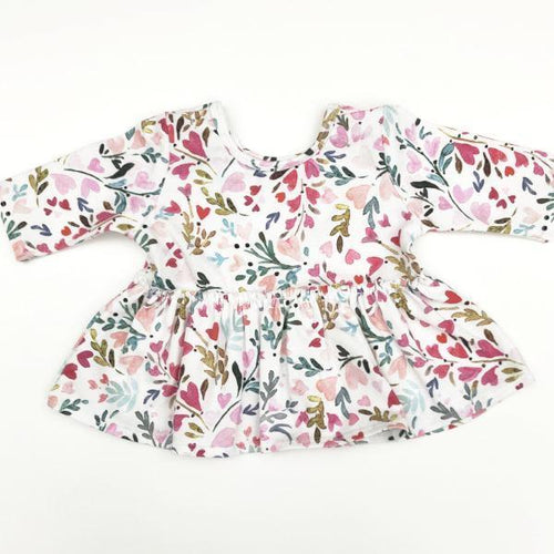 Made by Molly Peplum Top - Heart Floral - Bloom Kids Collection - Made by Molly