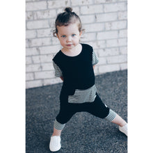 Moon + Beck The Romper II - Black - Bloom Kids Collection - Moon + Beck