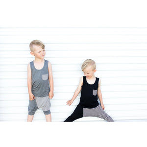 Moon + Beck Tank - Black - Bloom Kids Collection - Moon + Beck