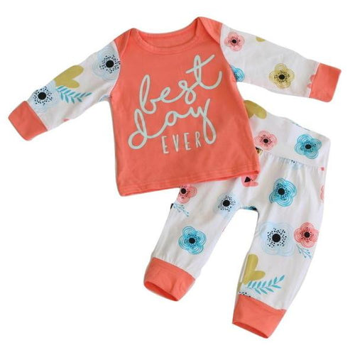 Baby Girl Outfit Best Day Ever Flower