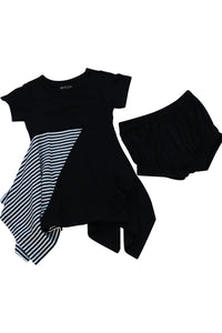 Moon + Beck Sadie Dress - Black - Bloom Kids Collection - Moon + Beck