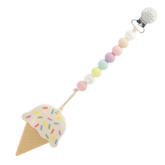 Loulou Lollipop Teether - Ice Cream with Holder - Bloom Kids Collection - Loulou Lollipop