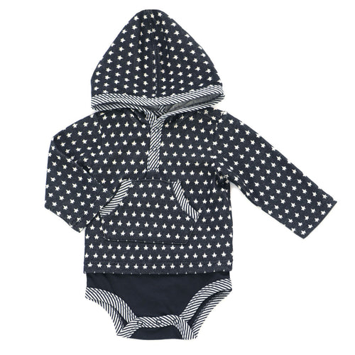 Kapital K Hooded Bodysuit - Starry Night - Bloom Kids Collection - Kapital K