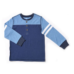 Kapital K Color Blocked Henley - Galaxy Blue - Bloom Kids Collection - Kapital K