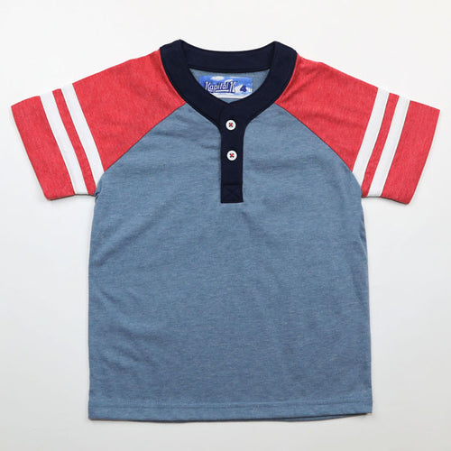 Kapital K Jersey Varsity Henley - Bloom Kids Collection - Kapital K