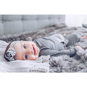 Moon + Beck Chloe Knot Head Wrap - Gray - Bloom Kids Collection - Moon + Beck